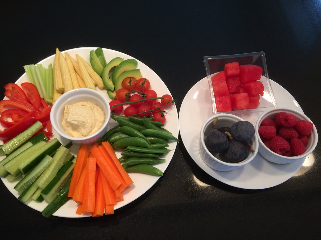 The Essential Student Guide - fresh and healthy fruit and veg platter